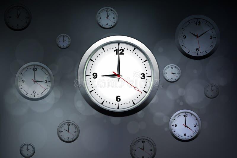 Concepto de la gestión de tiempo ilustración del vector