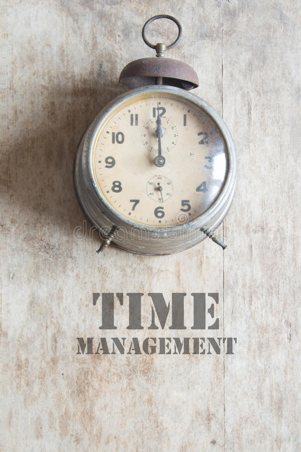 Concepto de la gestión de tiempo, estilo del vintage foto de archivo libre de regalías