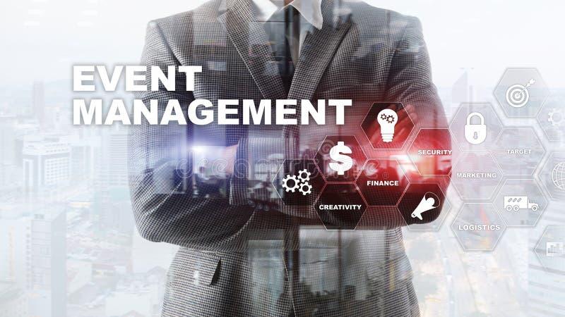 Concepto de la gestión del evento Organigrama de la gestión del acontecimiento La gestión del acontecimiento relacionó artículos  imagen de archivo