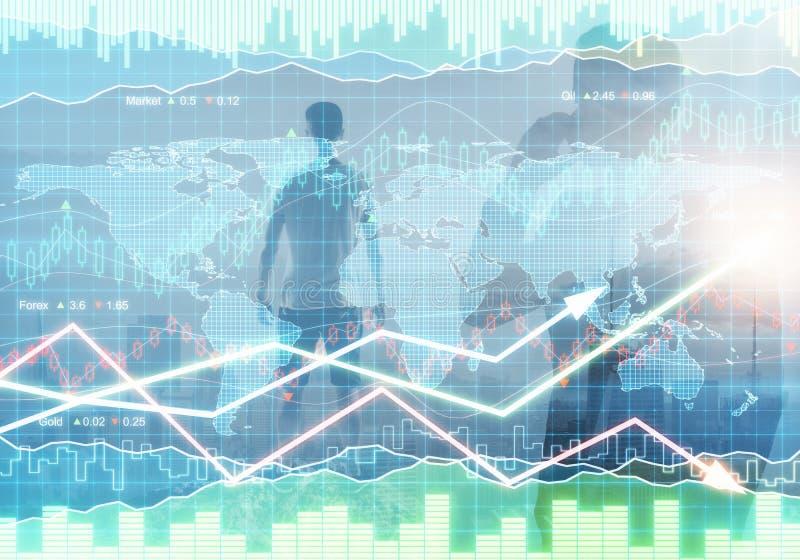 Concepto de la gestión de fondos y del mercado ilustración del vector