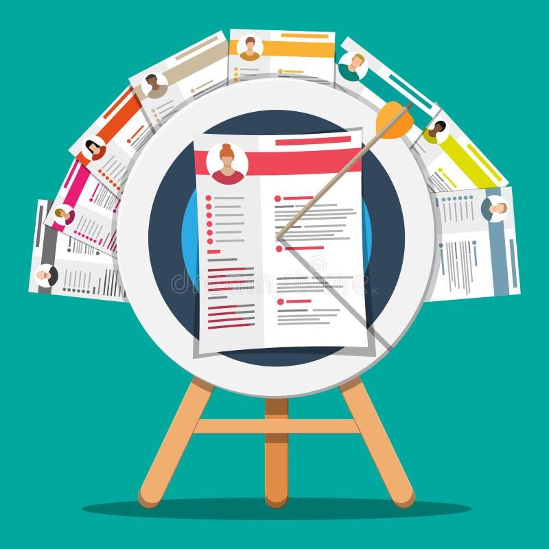 Concepto de la gestión de recursos humanos ilustración del vector