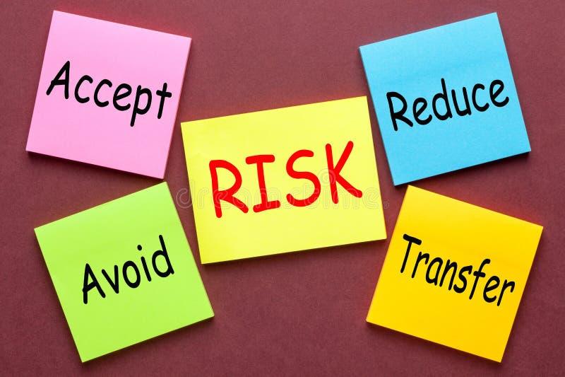 Concepto de la gestión de riesgos fotos de archivo