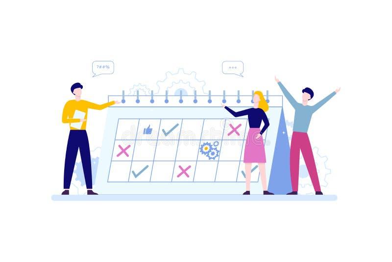 Concepto de la gestión de tiempo Idea del horario y de la organización libre illustration