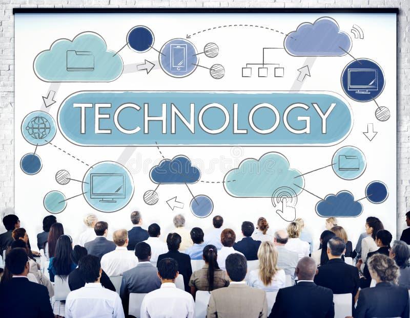 Concepto de la globalización de la conexión de la comunicación global de la tecnología imágenes de archivo libres de regalías