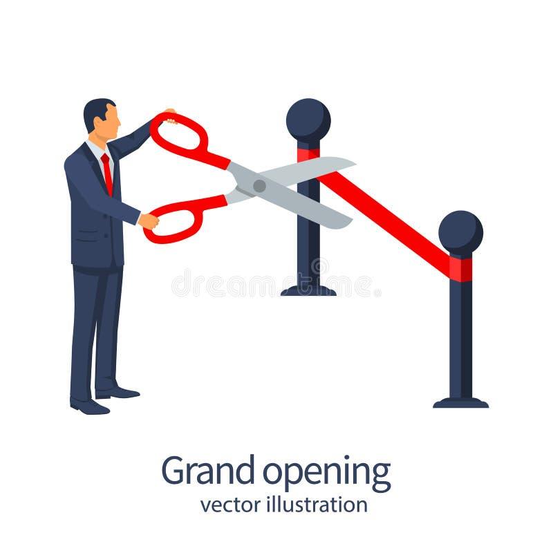 Concepto de la gran inauguración ilustración del vector