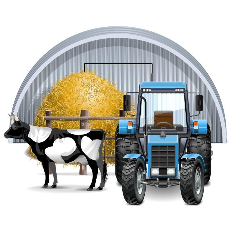 Concepto de la granja del vector stock de ilustración