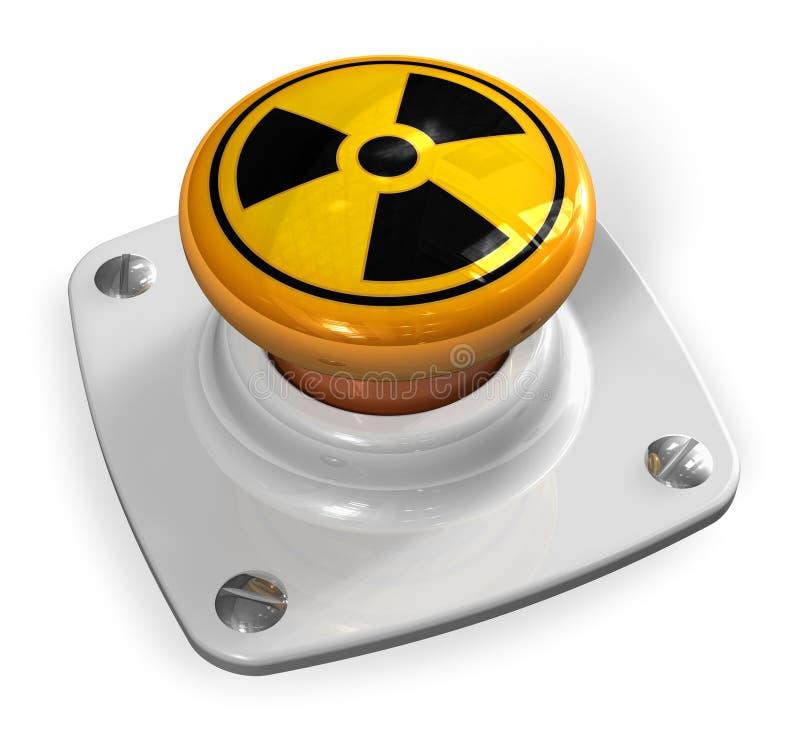 Concepto de la guerra nuclear ilustración del vector