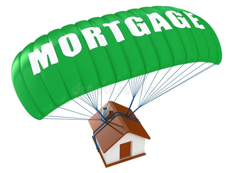 Concepto de la hipoteca ilustración del vector