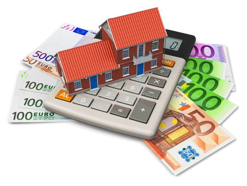 Concepto de la hipoteca stock de ilustración
