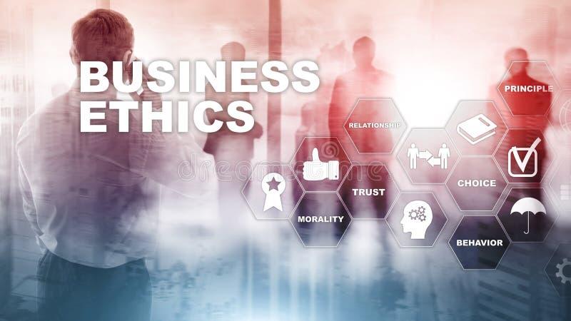 Concepto de la honradez de la responsabilidad de la filosof?a de Ethnics del negocio Fondo de las t?cnicas mixtas stock de ilustración