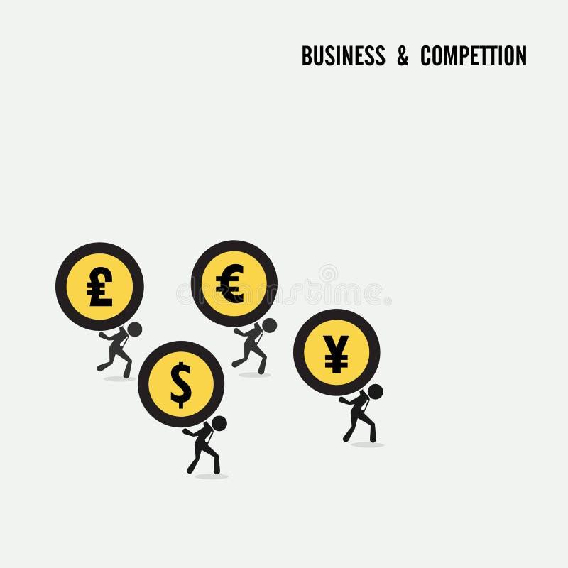Concepto de la idea de la competencia del negocio Símbolo de la idea de la historieta del negocio libre illustration