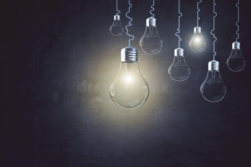 Concepto de la idea, de la innovación y de la solución imágenes de archivo libres de regalías