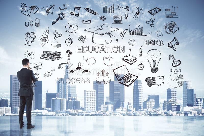 Concepto de la idea y de la educaci?n fotografía de archivo libre de regalías