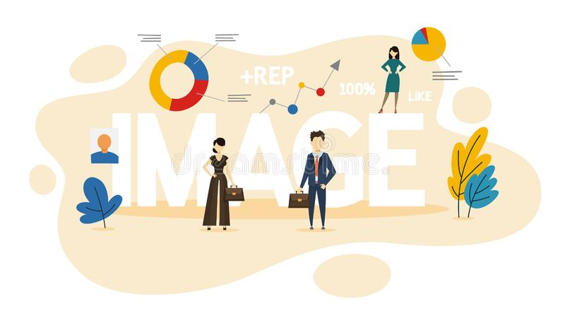 Concepto de la imagen Idea de la marca y de la reputación personales stock de ilustración