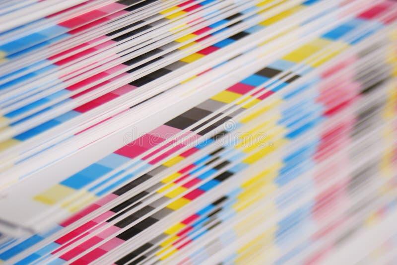 Concepto de la impresión en offset de CMYK foto de archivo