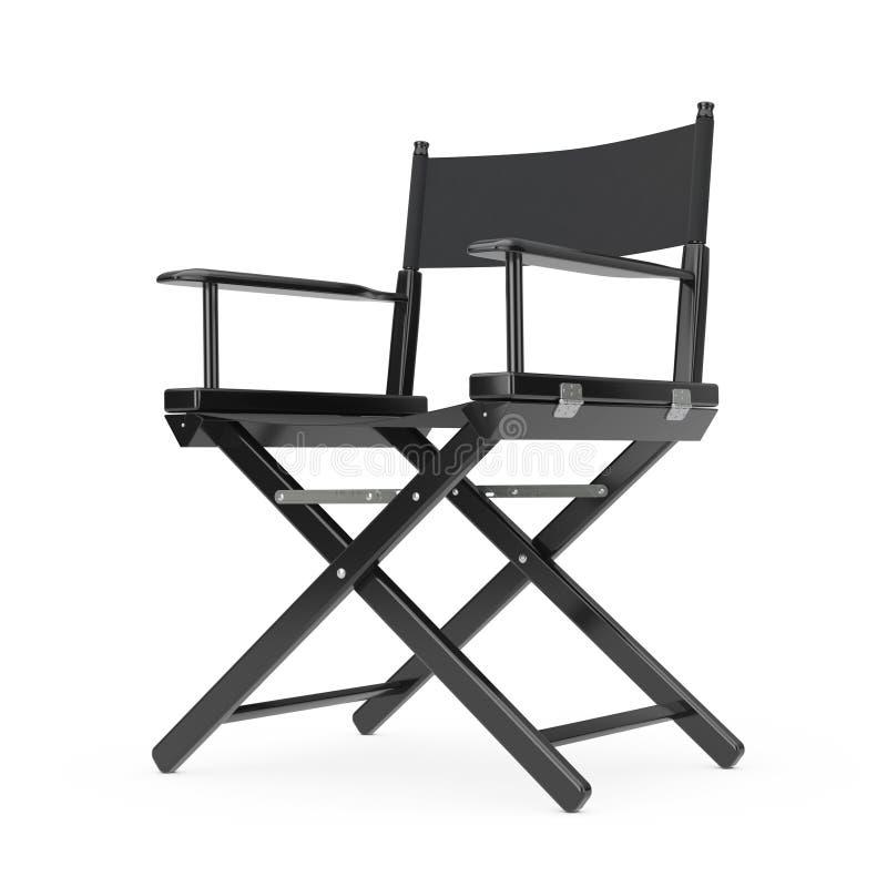 Concepto de la industria del cine Director de madera negro Chair representación 3d libre illustration