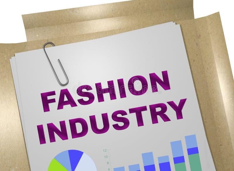 Concepto de la industria de moda ilustración del vector