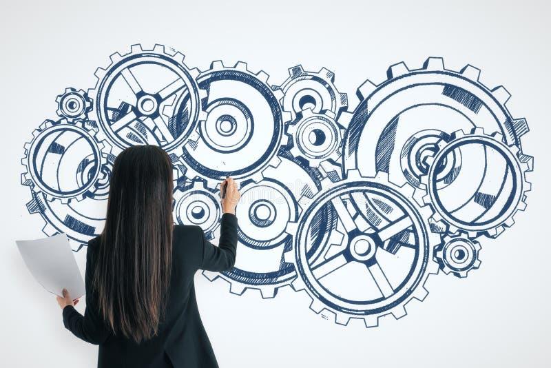 Concepto de la industria y de la ingenier?a libre illustration