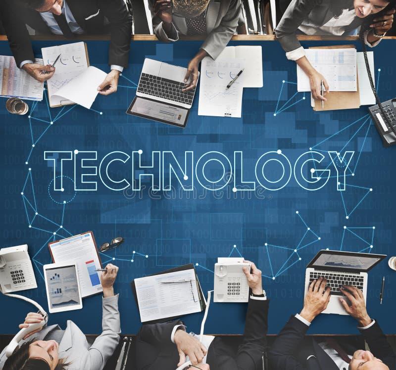 Concepto de la información de Internet de la comunicación de la conexión de la tecnología imágenes de archivo libres de regalías