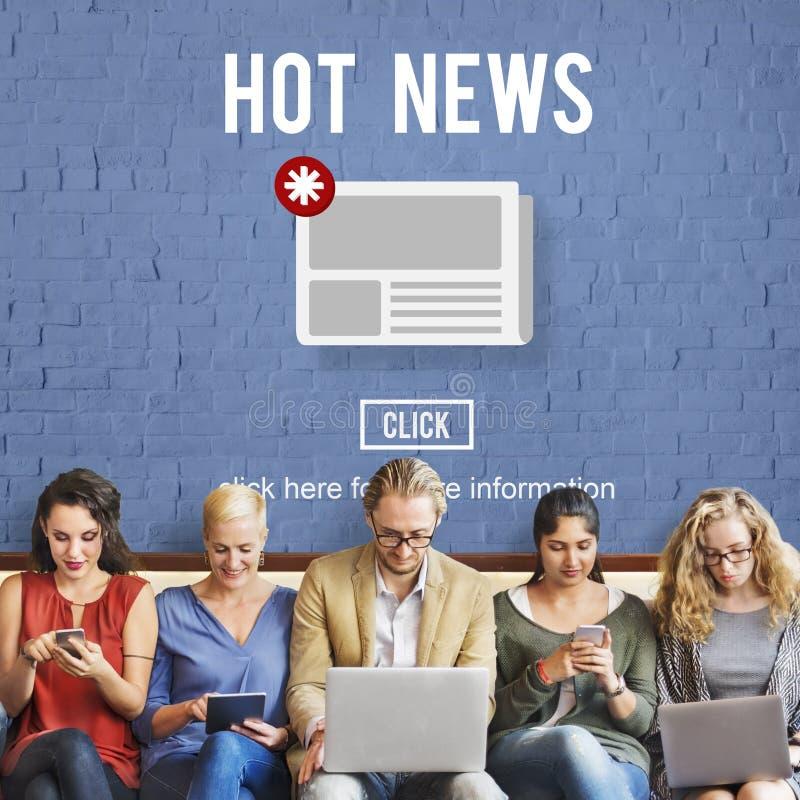 Concepto de la información de la actualización del aviso del hoja informativa de las noticias fotos de archivo libres de regalías