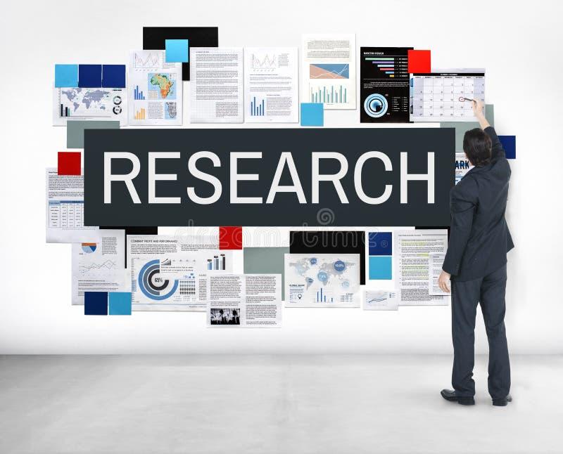Concepto de la información de reacción de los hechos de la exploración de la investigación fotografía de archivo libre de regalías