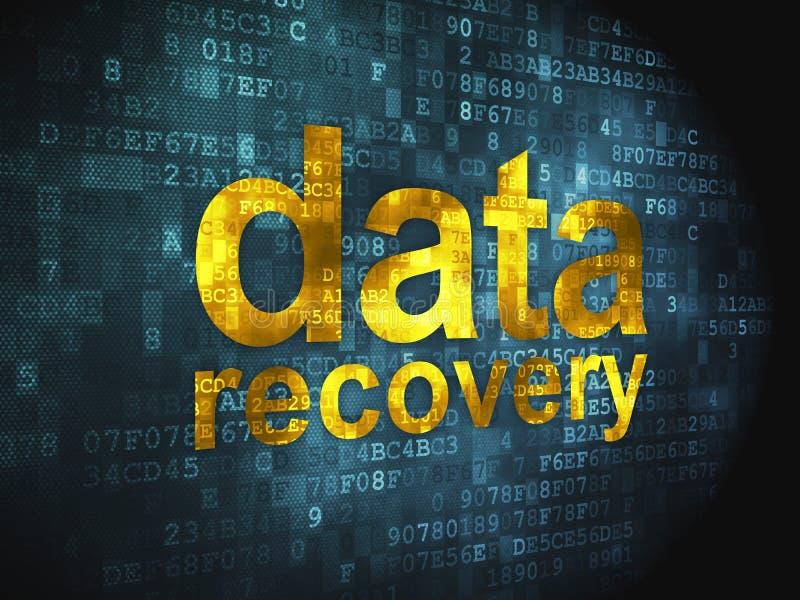 Concepto de la información: Recuperación de los datos en digital stock de ilustración