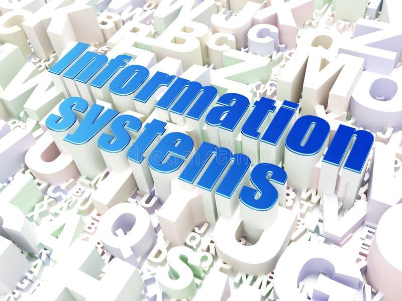 Concepto de la información: Sistemas de información en fondo del alfabeto fotos de archivo libres de regalías