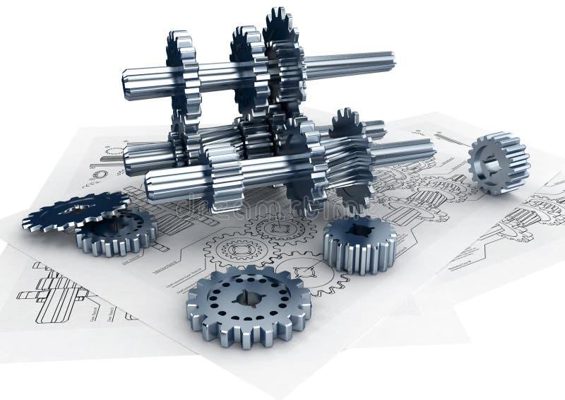Concepto de la ingeniería ilustración del vector