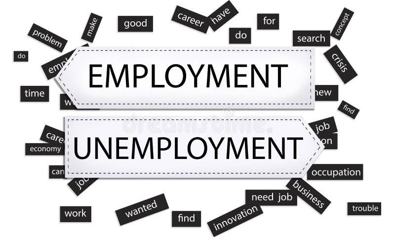 Concepto de la innovación de la crisis del desempleo del empleo ilustración del vector