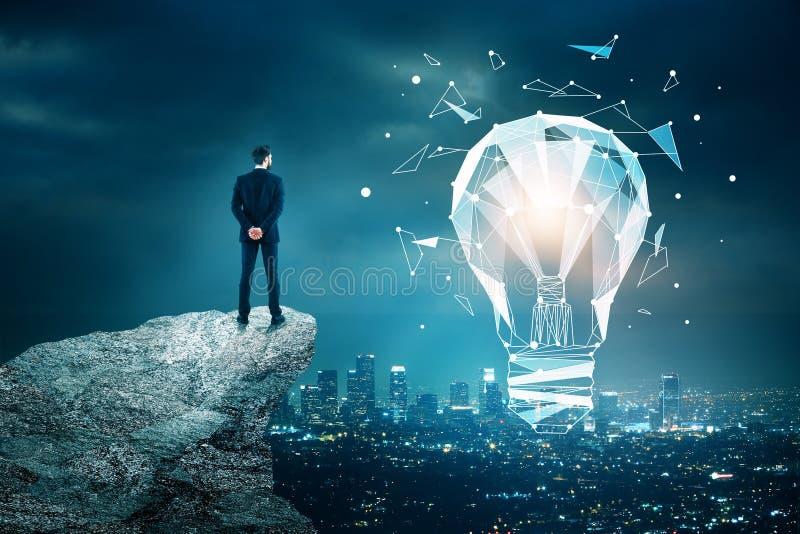 Concepto de la innovación, de la tecnología y de la idea fotos de archivo libres de regalías