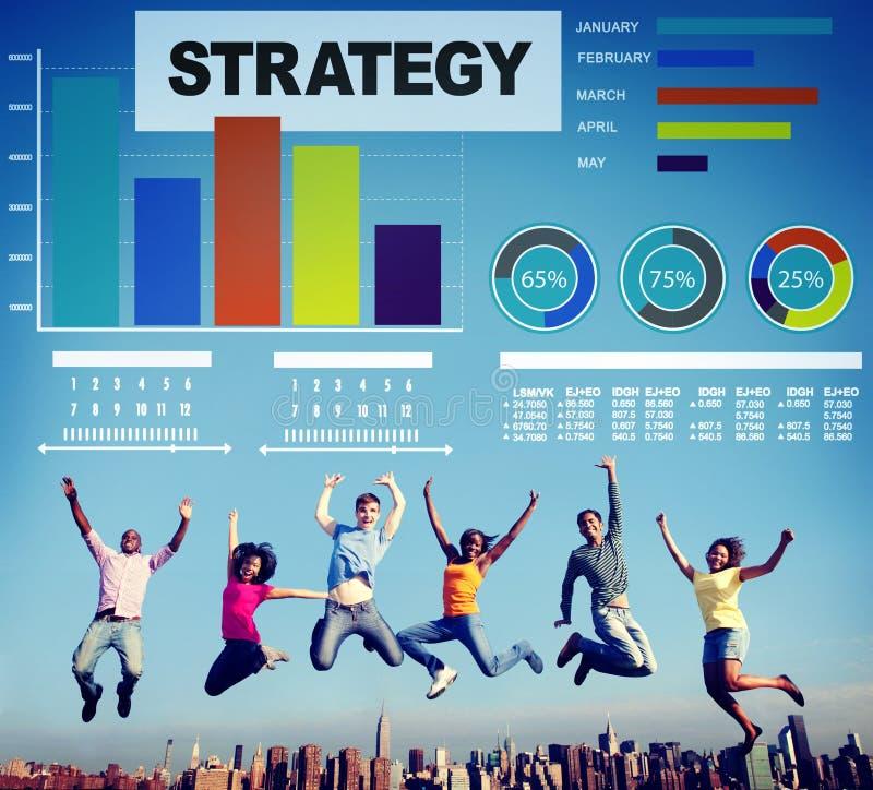 Concepto de la innovación de las ideas de los datos del márketing del plan de la estrategia imágenes de archivo libres de regalías