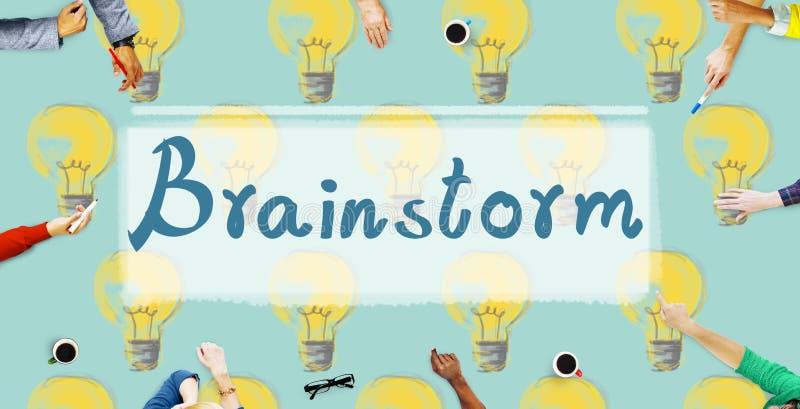 Concepto de la inspiración de la imaginación de la creatividad de las ideas del intercambio de ideas stock de ilustración