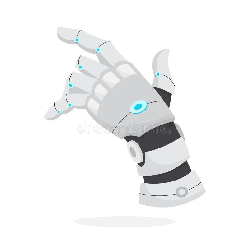 Concepto de la inteligencia artificial Cerebro futurista de la tecnología y del robot ilustración del vector