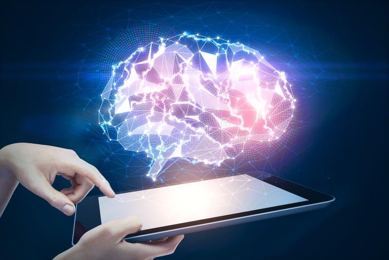 Concepto de la inteligencia artificial y de la ciencia imágenes de archivo libres de regalías