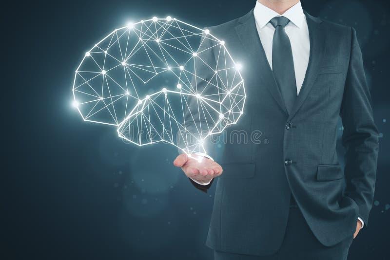 Concepto de la inteligencia artificial y del futuro imagenes de archivo