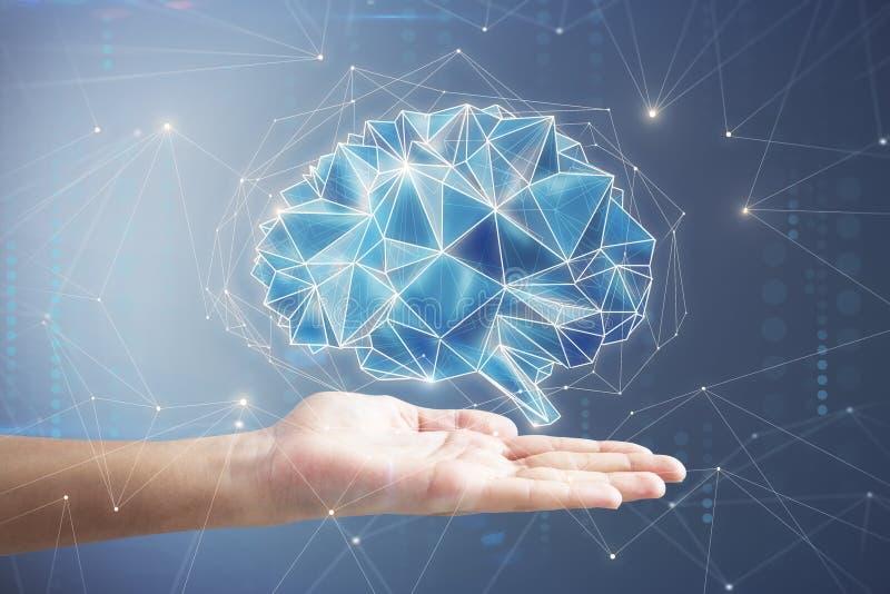 Concepto de la inteligencia artificial y de la innovación stock de ilustración