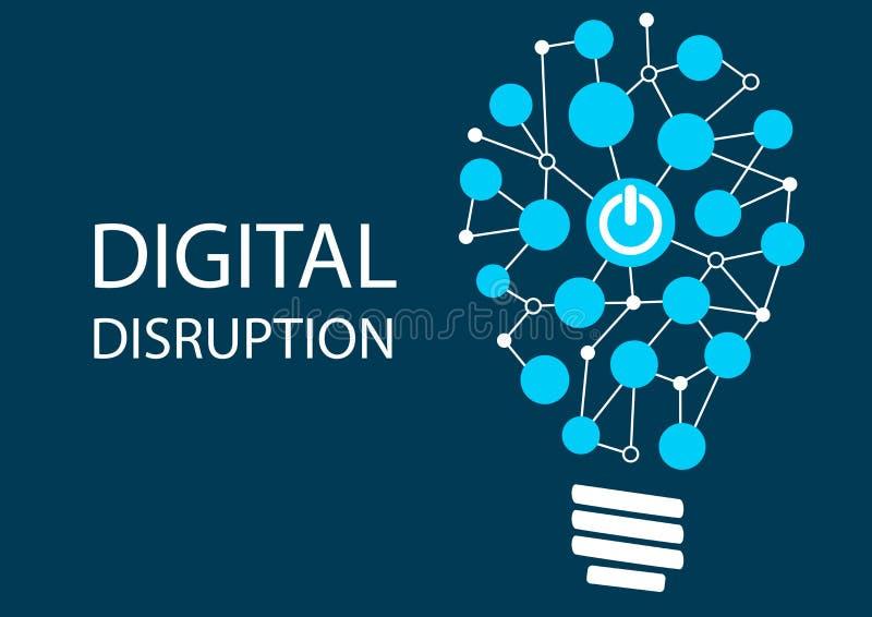 Concepto de la interrupción de Digitaces Fondo del ejemplo del vector para la tecnología de la innovación las TIC ilustración del vector