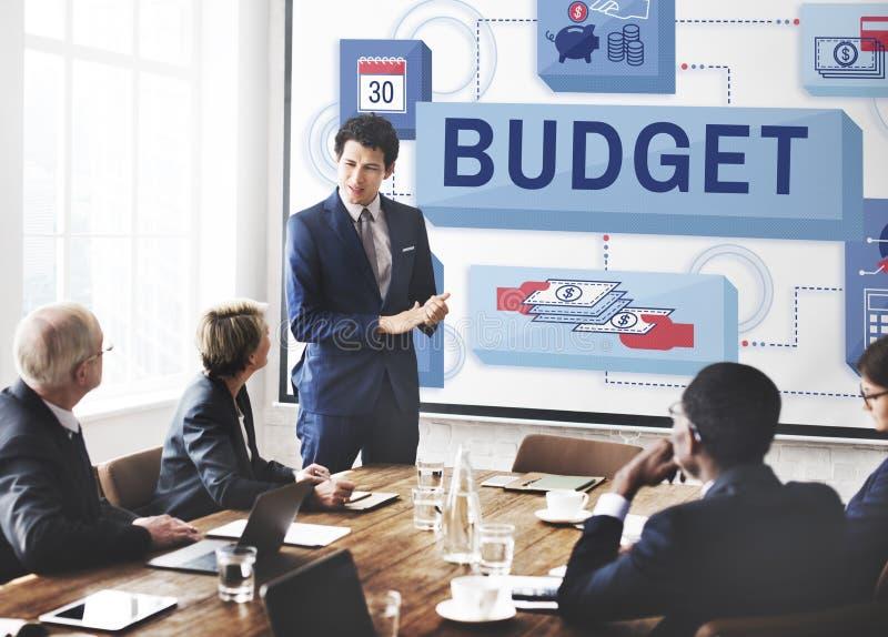 Concepto de la inversión de la renta de dinero de las finanzas del presupuesto imagen de archivo libre de regalías