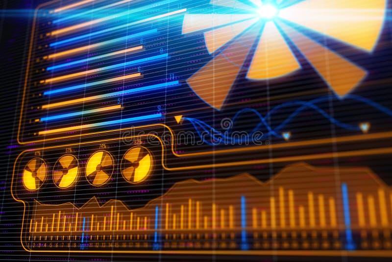 Concepto de la inversión, del comercio y de la gestión de fondos ilustración del vector
