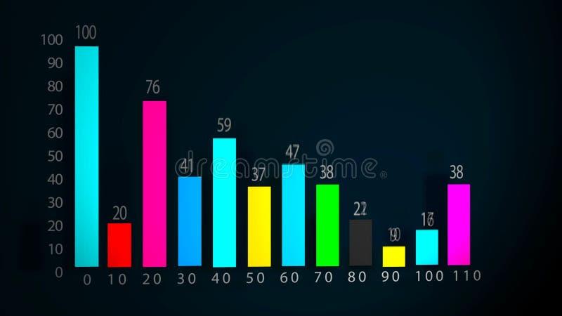 Concepto de la investigación del análisis de la carta de barra del gráfico de la información de datos libre illustration