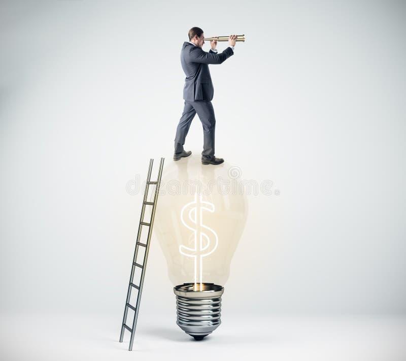 Concepto de la investigación, del crecimiento y de la idea libre illustration
