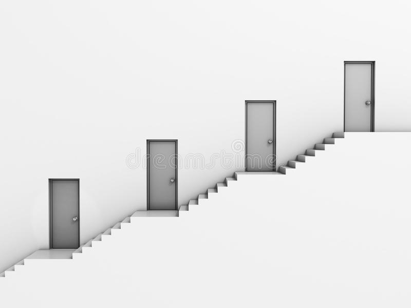 Concepto de la jerarquía 3d del asunto stock de ilustración