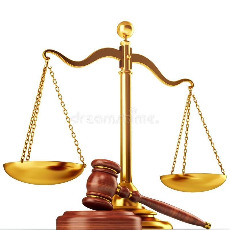 Concepto de la justicia stock de ilustración