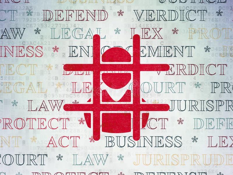 Concepto de la ley: Criminal en fondo del papel de datos de Digitaces libre illustration