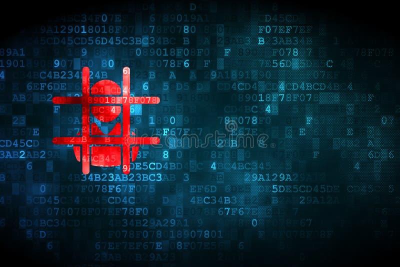 Concepto de la ley: Criminal en fondo digital stock de ilustración