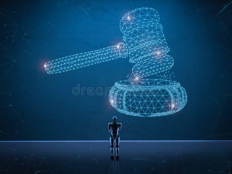 Concepto de la ley de Internet stock de ilustración