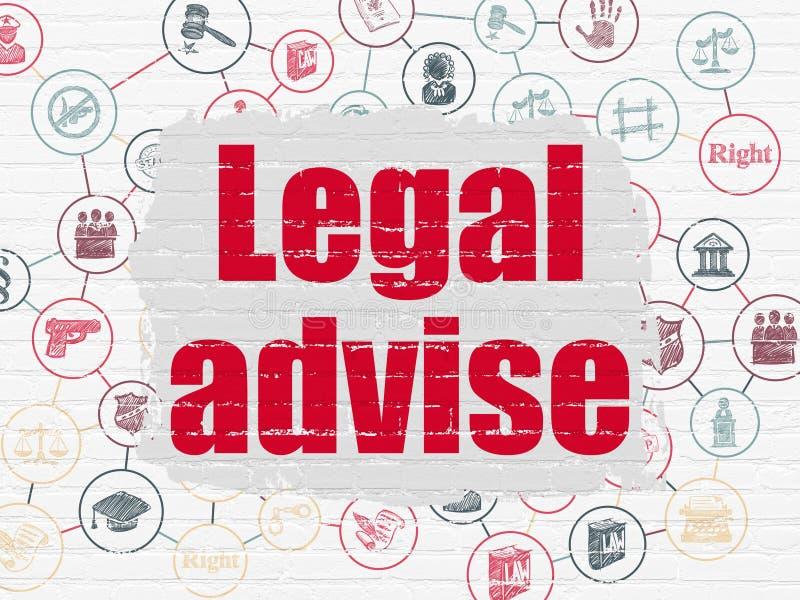 Concepto de la ley: Legal aconseje sobre fondo de la pared libre illustration