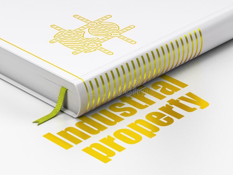 Concepto de la ley: reserve la propiedad criminal, industrial en el fondo blanco libre illustration