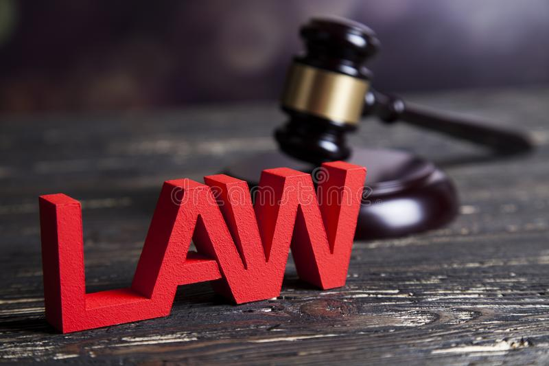 Concepto de la ley y de la justicia, código legal y escalas fotos de archivo libres de regalías