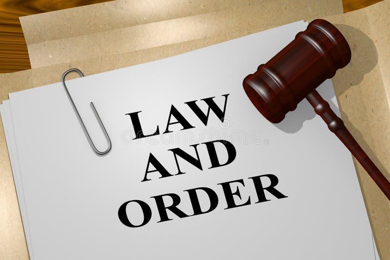 Concepto de la ley y orden stock de ilustración